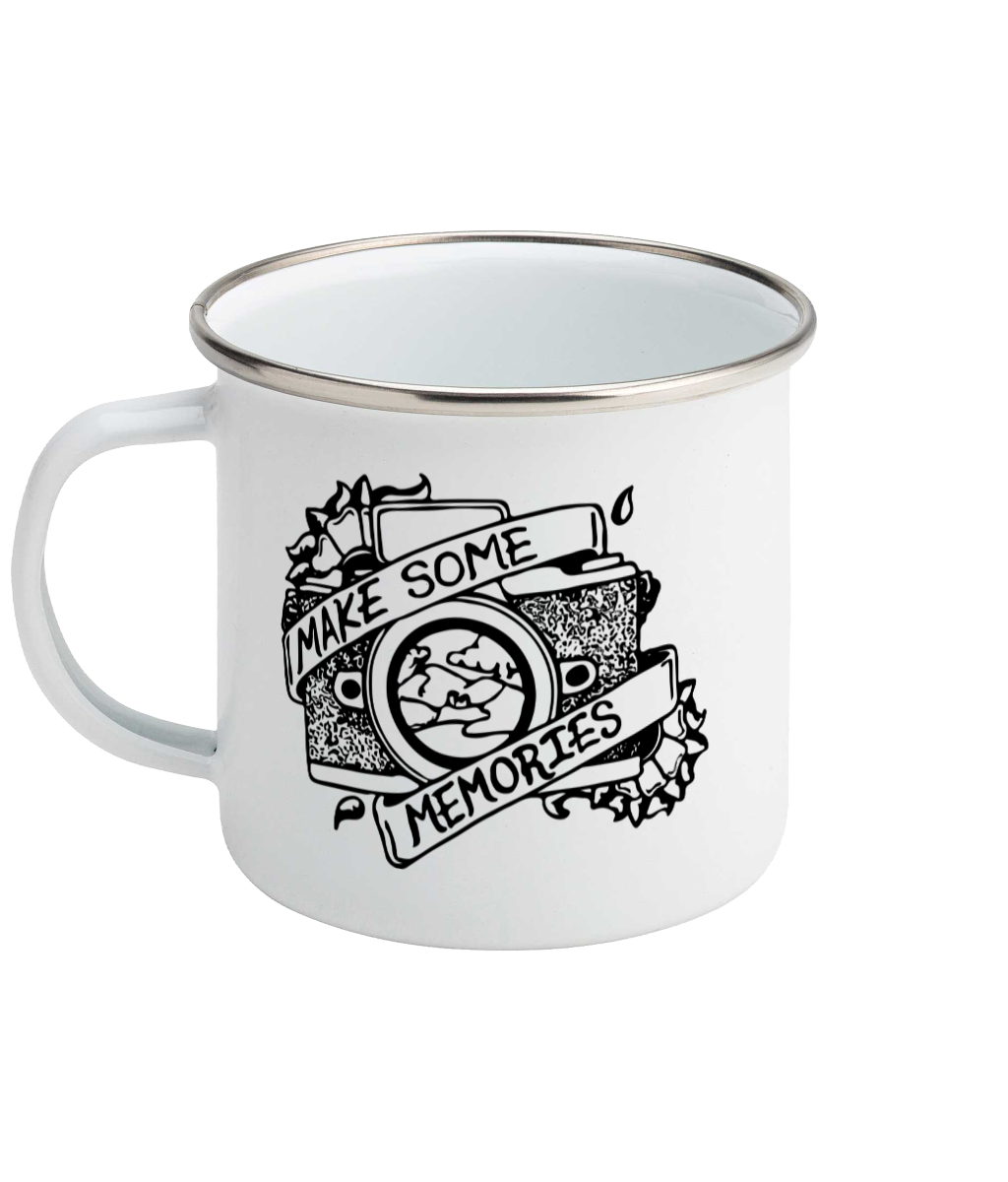 Make Some Memories - Enamel Mug, Suggested Products, Pen and Ink Studios Adventure Clothing