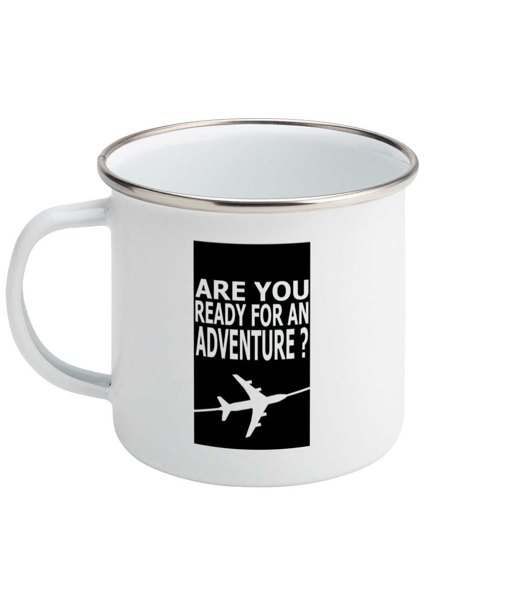 Ready For Adventure - Plane - Enamel Mug