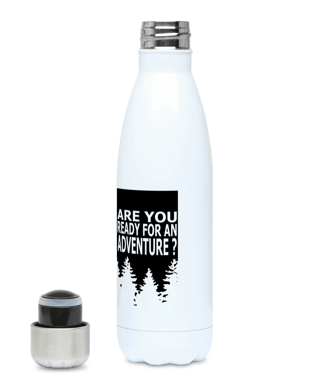 Are You Ready For Adventure - Forest - Plastic Free 500ml Water Bottle, Suggested Products, Pen and Ink Studios Adventure Clothing
