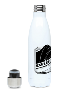 Explore Everything - Plastic Free 500ml Water Bottle - Pen and Ink Studios