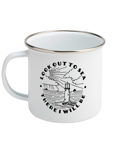 Look Out To Sea - Enamel Mug