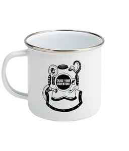 Chase Your Adventure- Diver - Enamel Mug, Suggested Products, Pen and Ink Studios Adventure Clothing