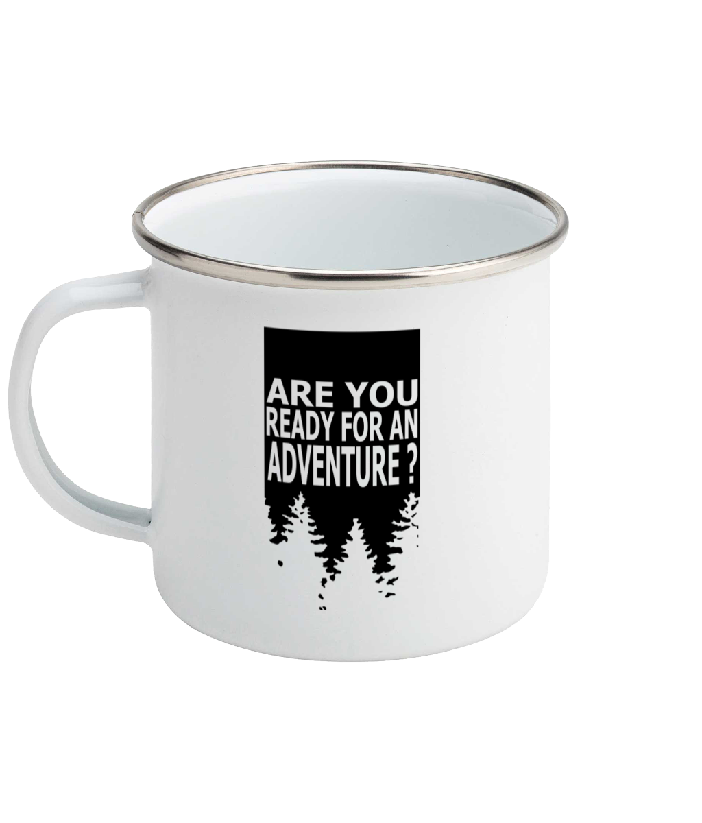 Are You Ready For Adventure - Forest - Enamel Mug