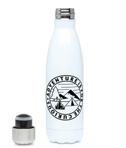 Adventure Is For The Curious - Plastic Free 500ml Water Bottle, Suggested Products, Pen and Ink Studios Adventure Clothing