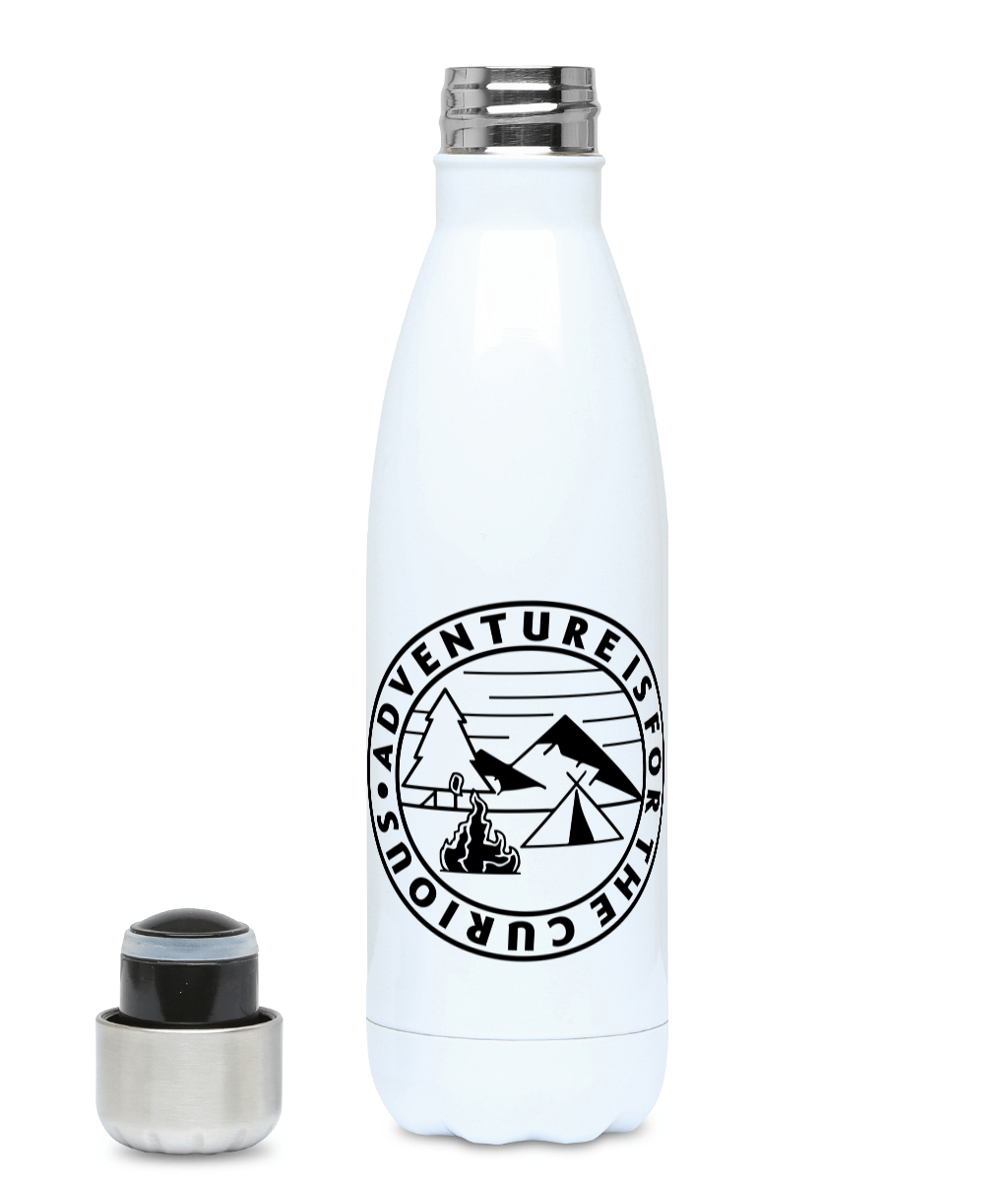 Adventure is for the curious - 500ml Water Bottle, Suggested Products, Pen and Ink Studios - Pen and Ink Studios