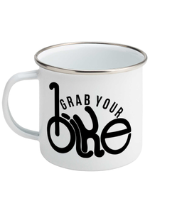 Grab Your Bike - Enamel Mug, Suggested Products, Pen and Ink Studios Adventure Clothing
