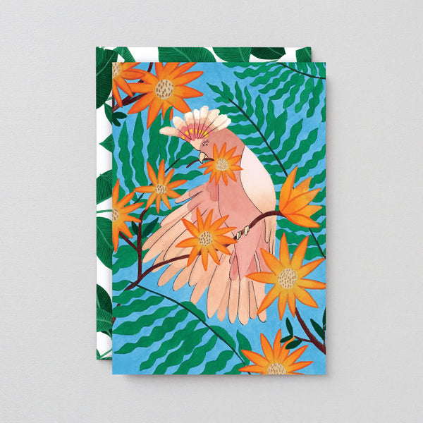 Wrap Tropical Bird Art Card