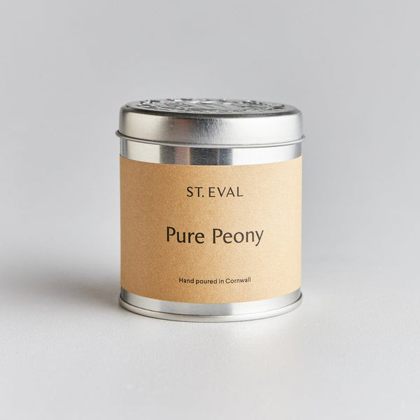 St. Eval Pure Peony Scented Tin Candle