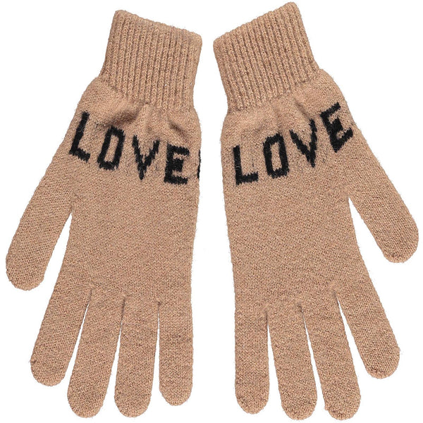 Quinton Chadwick Camel LOVE gloves