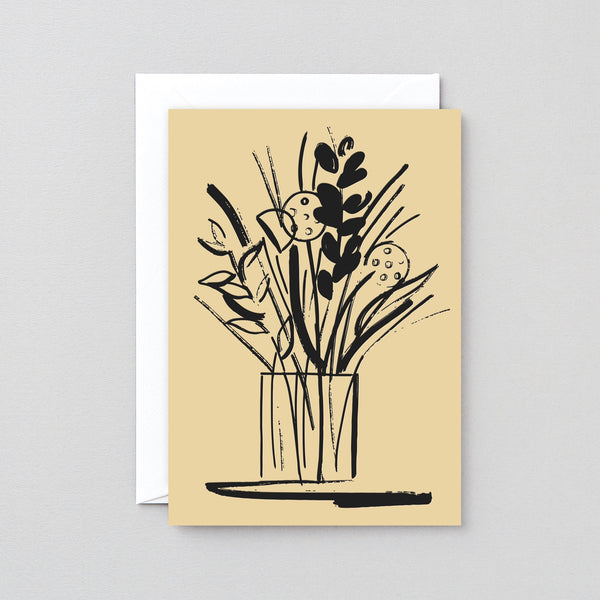 Wrap Vase and Stems letterpress card