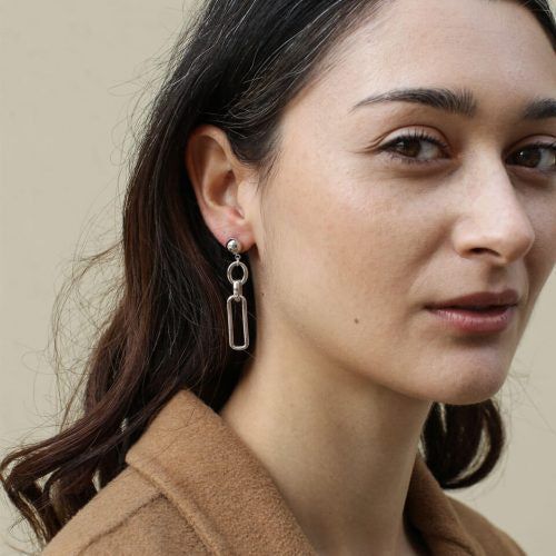 A Weathered Penny Silver Alana Earrings