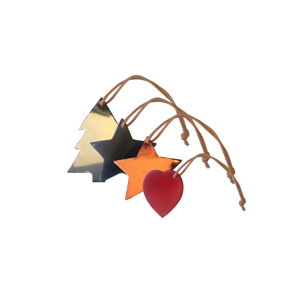 Leather Christmas Decor - Mixed Shapes