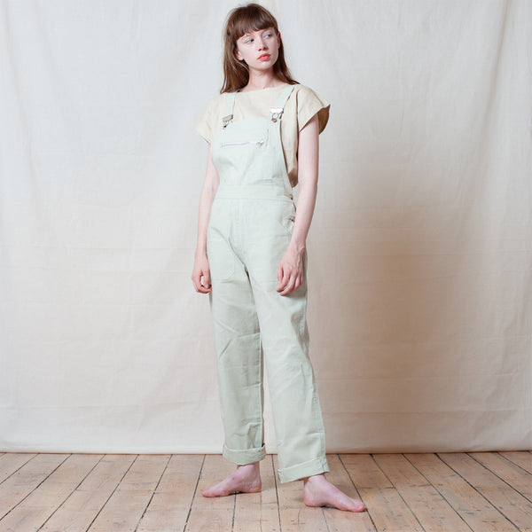 Cream Waxed Cotton Dungarees
