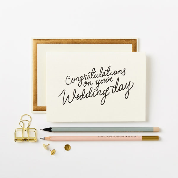 Katie Leamon Congrats Wedding Day card