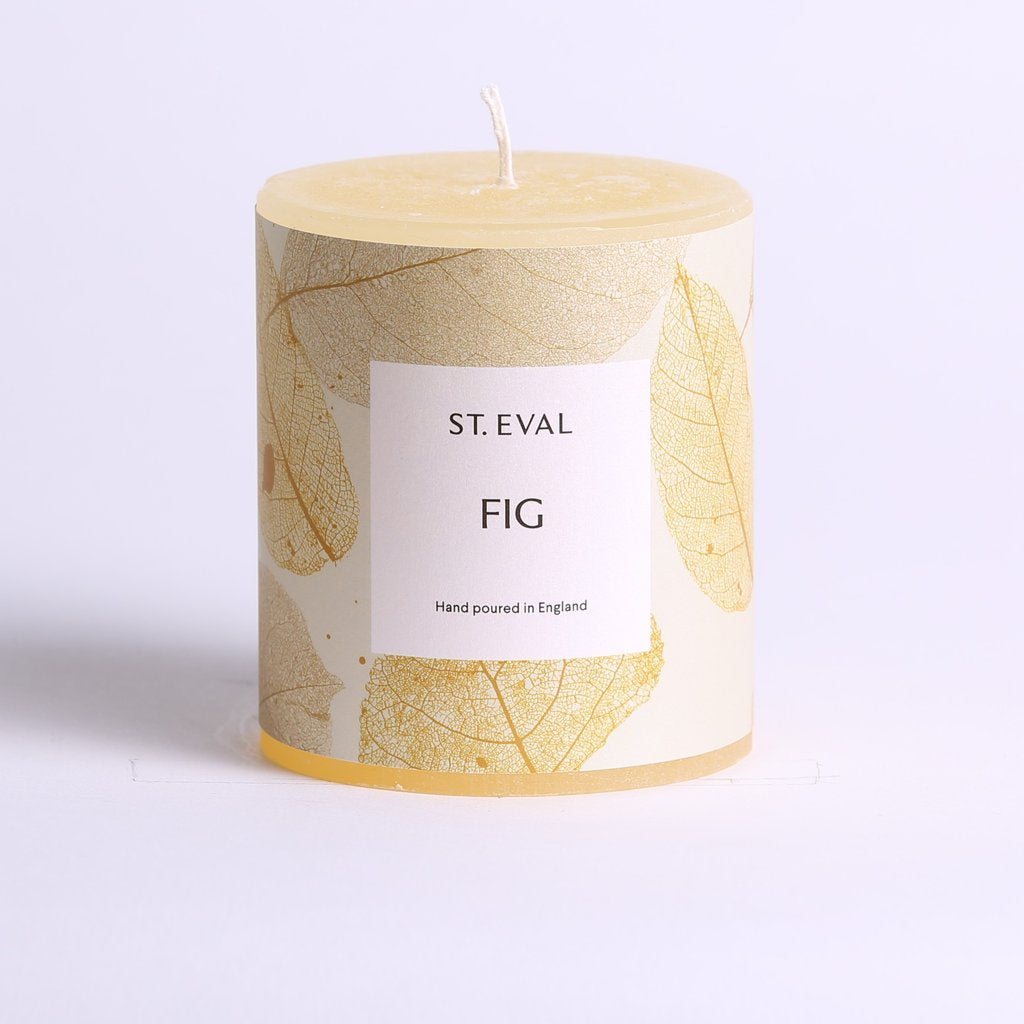 St. Eval Eden Pillar Candle Fig