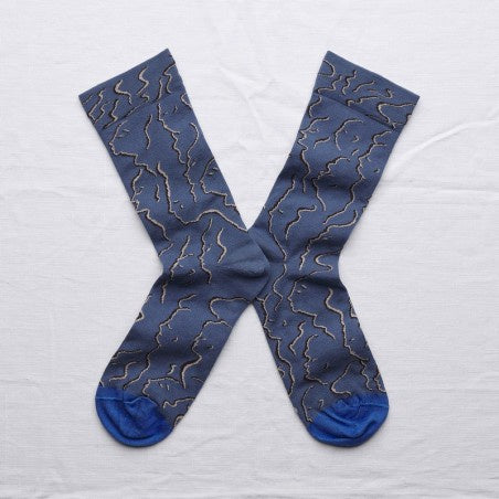 Bonne maison profiles blue socks