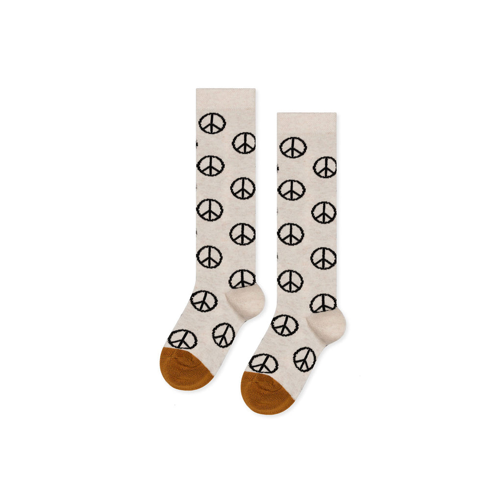 Hansel From Basel Oat Mini Peace Out Knee Highs/109956-OAT