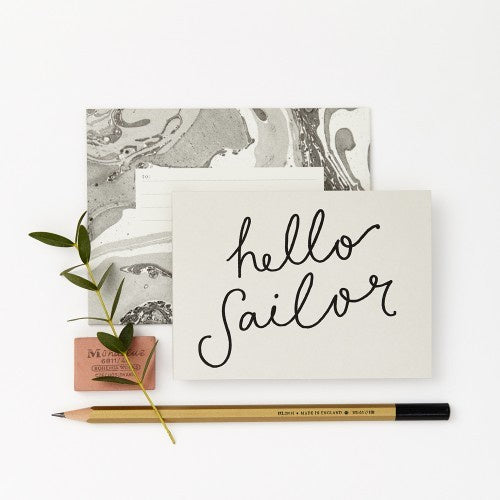 Katie Leamon Hello Sailor Petit card