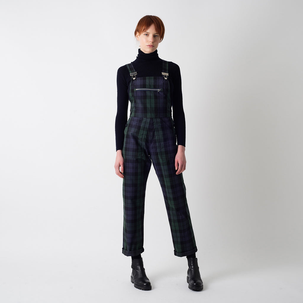 Blackwatch Tartan Wax Dungaree