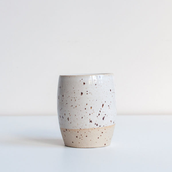 Dor & Tan White Speckle Tumbler
