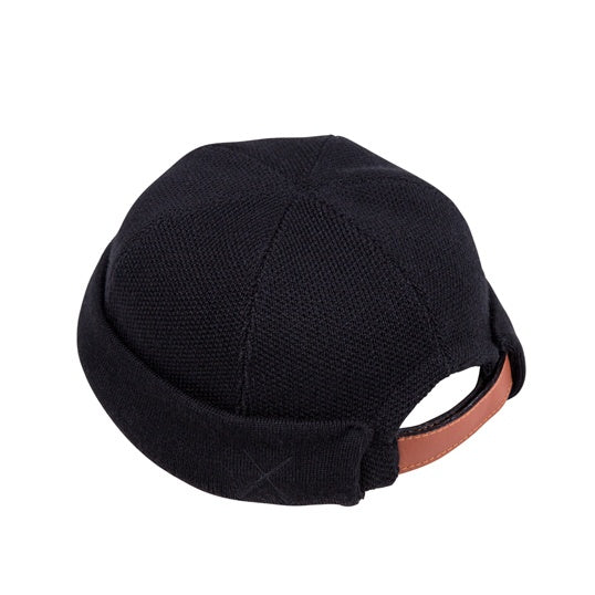 Black Wool Beton Cire Miki Hat