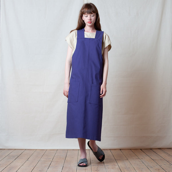 Brushed Navy Strike Dress