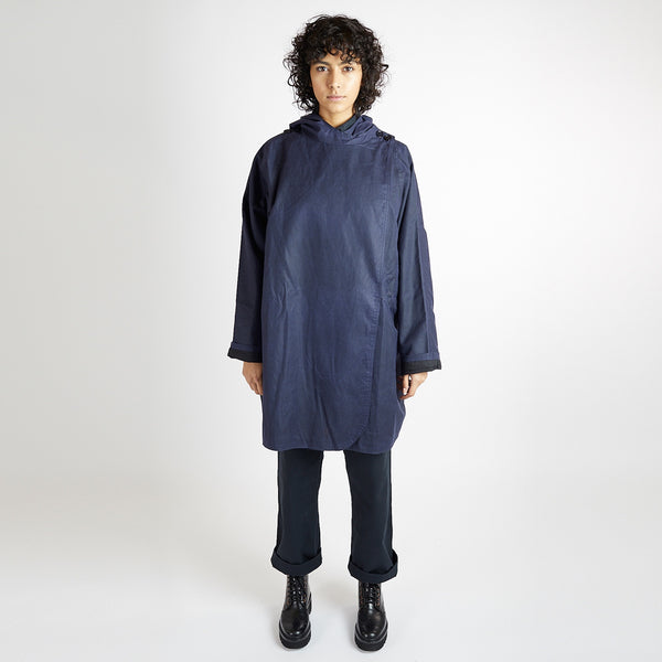 Navy Batwing Coat
