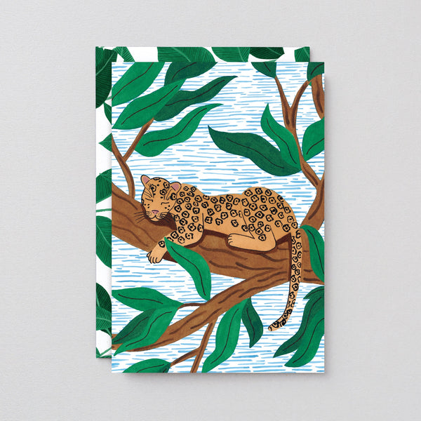 Wrap Leopard Greetings Card