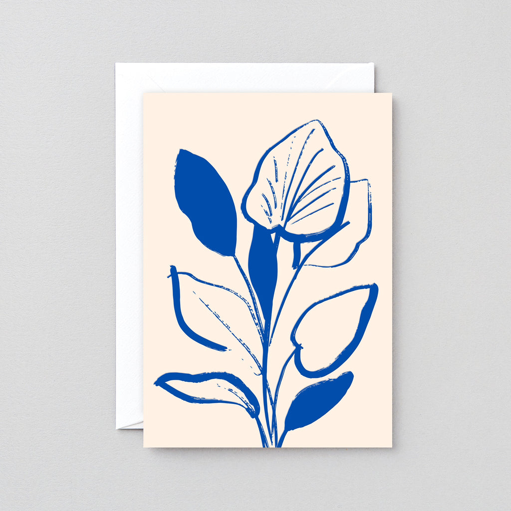 Wrap Lily study letterpress card