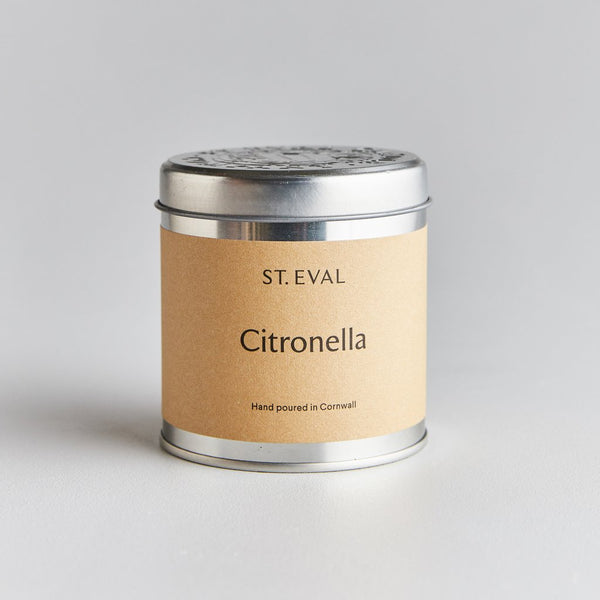 St. Eval Citronella Scented Tin Candle