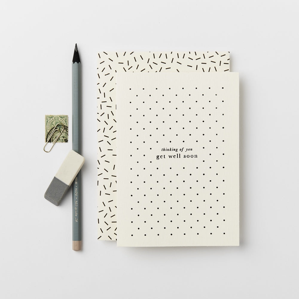 Katie Leamon Get Well Polka Dot Card