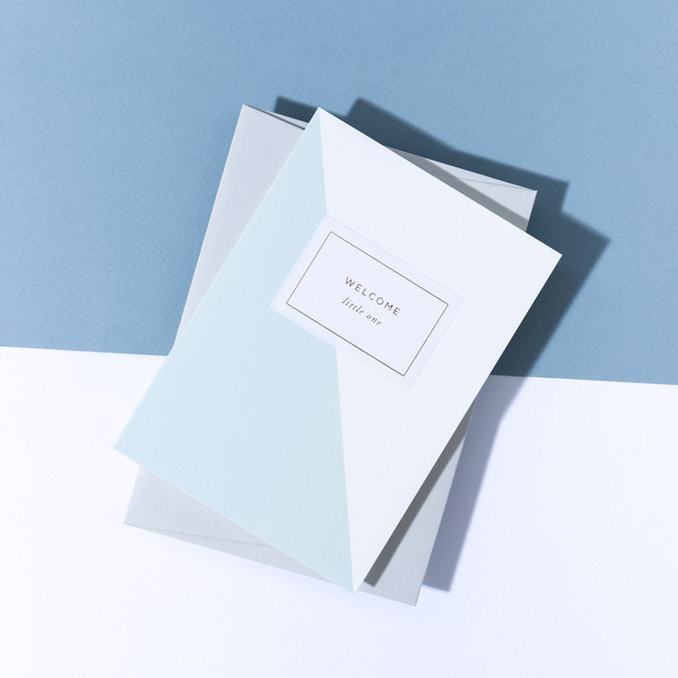 A'laise Blue Welcome Little One Card