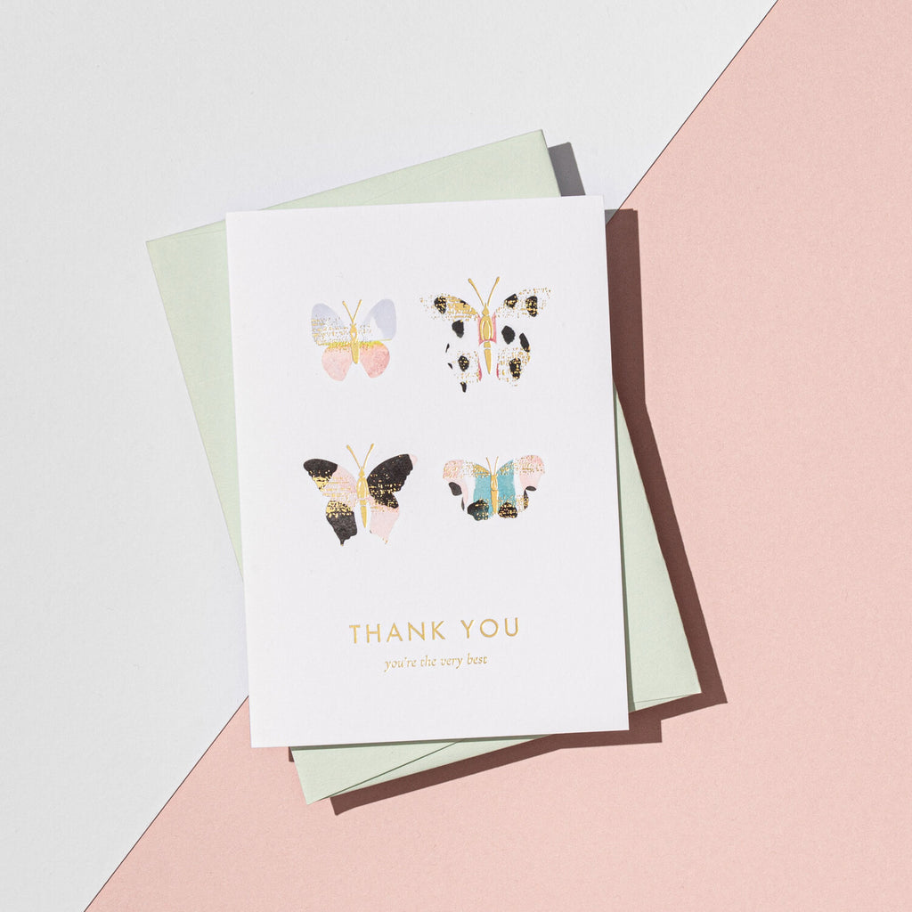 A'laise Thank You Butterfly Card