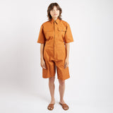 Brick Wax Short Boiler Suit