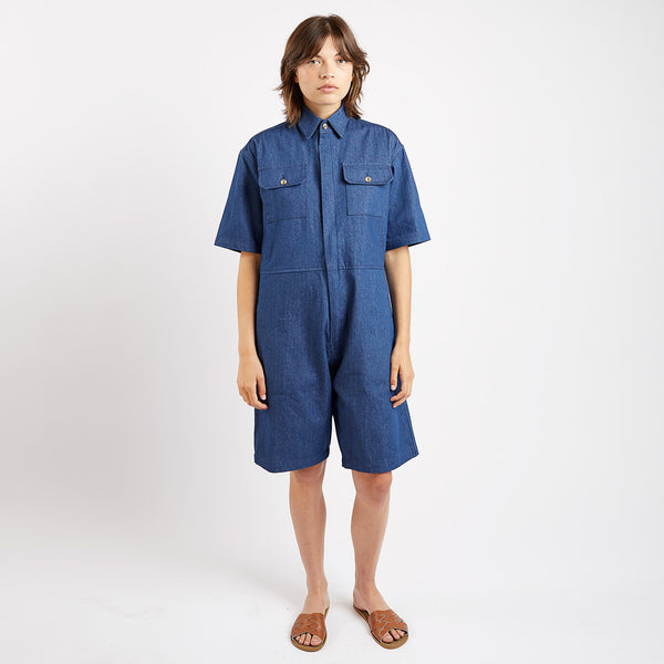 Denim Short Boiler Suit