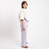Lilac Linen Pop Pleat Trousers