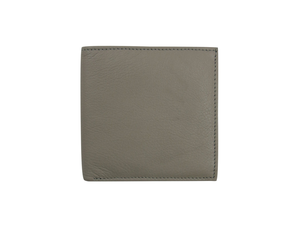 Grey Leather Simple Wallet