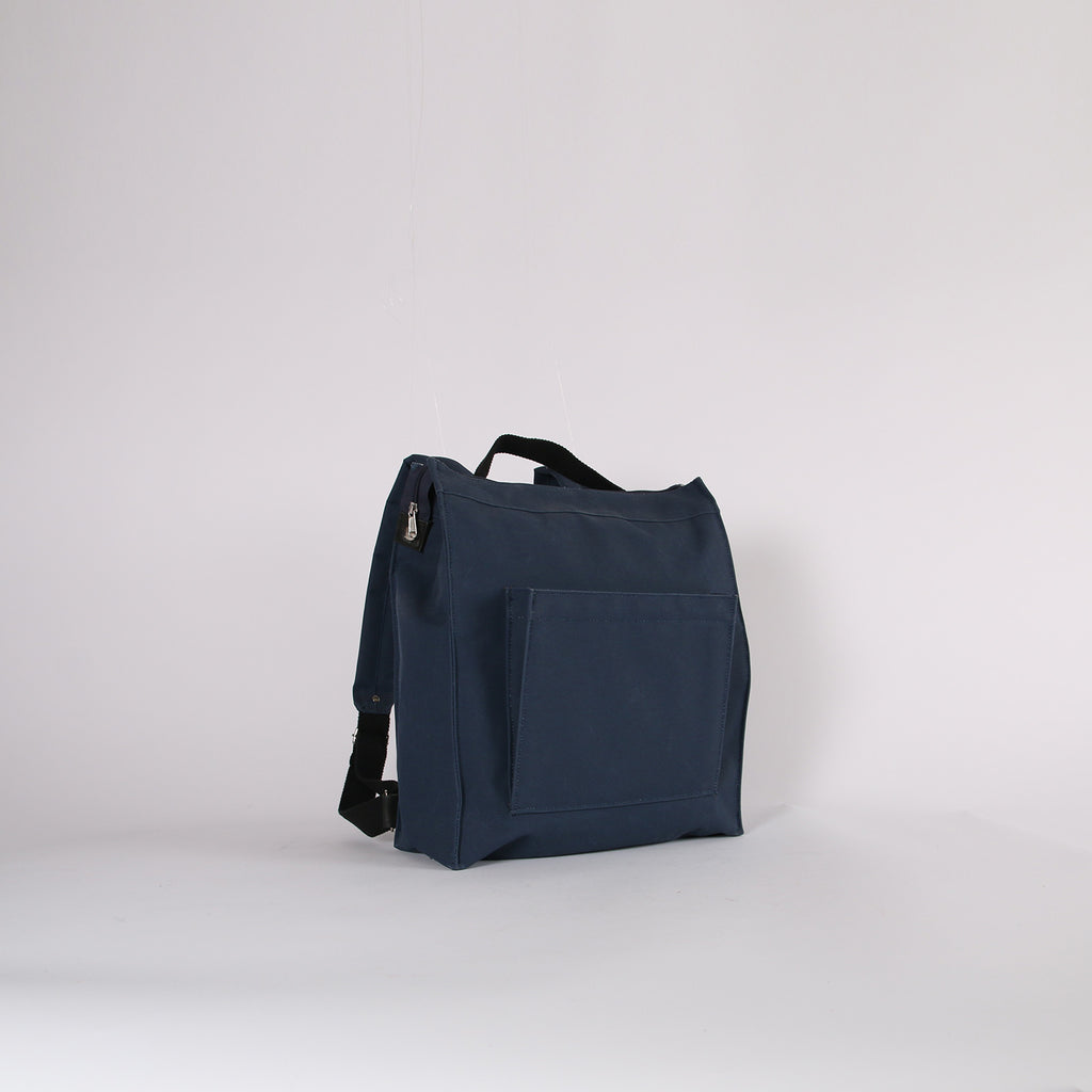 Navy and Black Webbing Box Rucksack