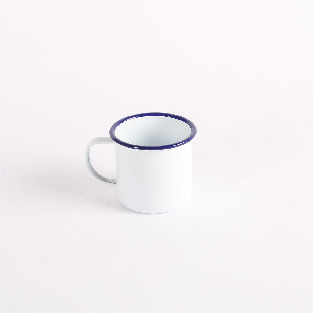 Enamel Blue Trim Mug