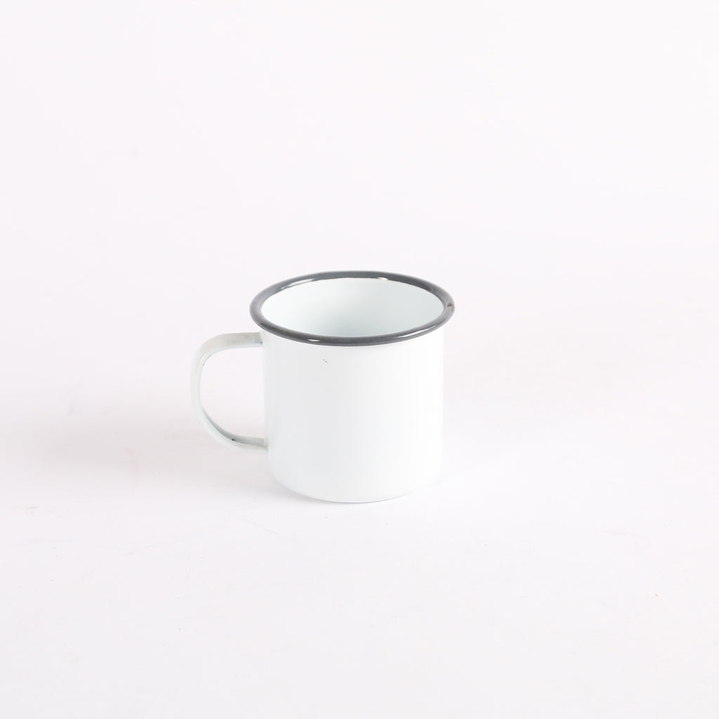 Enamel Grey Trim Mug