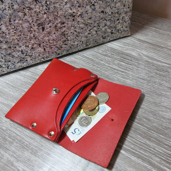 Smooth Red Loux Wallet