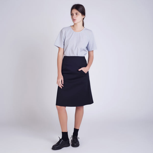 Black Pocket Skirt