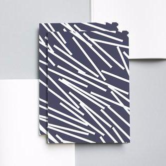 Ola Navy Lines Large Notebook