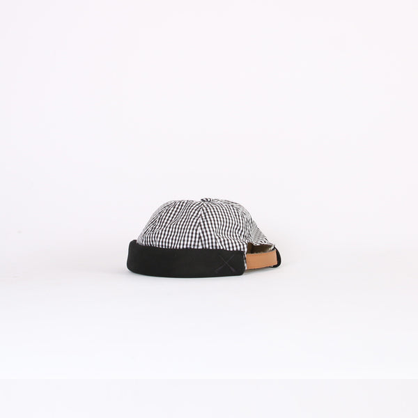 Beton Cire Vichy Black Denim 'Miki' Hat
