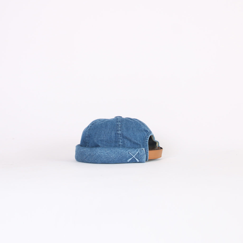 Beton Cire Washed Denim 'Miki' Hat