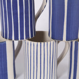 Sue Binns Wide Striped porcelain Mug