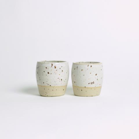 DOR & TAN Speckled White Espresso Cup Set