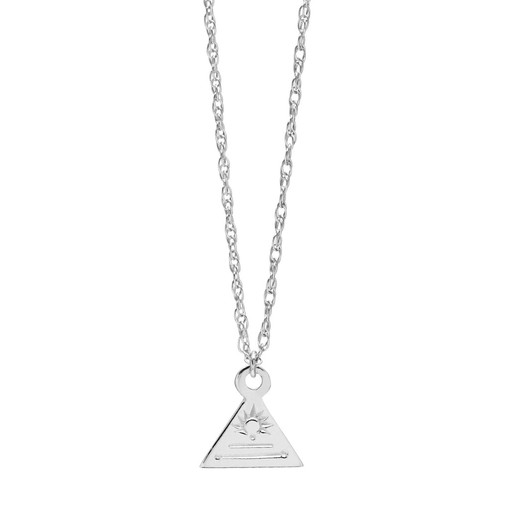 Nagle and Sisters Triangle Token Necklace