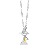 Nagle and Sisters Triangle Bar and Ring Necklace