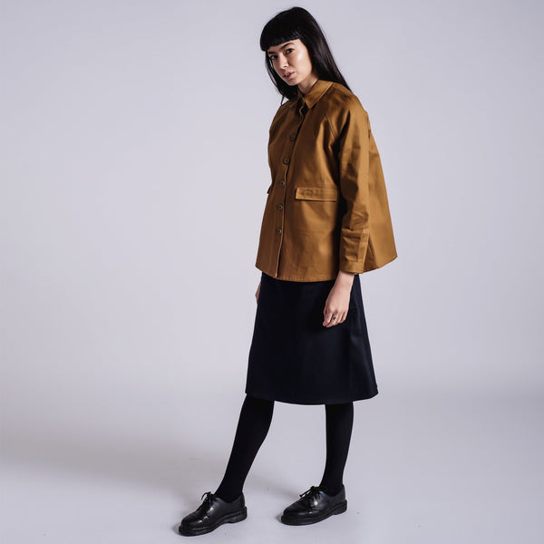 Toffee A-Line Jacket